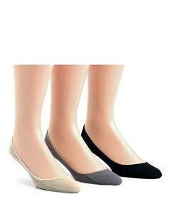 "Calvin Klein Men's No Show Liner Socks, 3 Pack COTTON "" with non-slip heel """