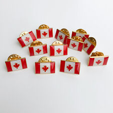 Canada Flag Mini Lapel Pin - 0.5 inches LOT OF 12
