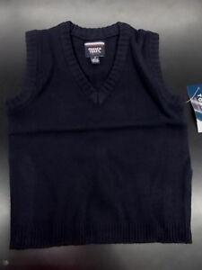 Boys French Toast $24 Uniform Navy Sweater Vest Size 4 - 7