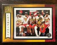 2019-20 Panini NBA Hoops Road to the Finals Toronto Raptors CHAMPS SSP Card #98