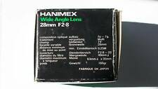 Hanimex 28mm f2.8 Fuji camera lens good condition with original box and pouch