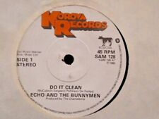 """ECHO AND THE BUNNYMEN """" DO IT CLEAN """" UK KOROVA LABEL EX+ COND."""