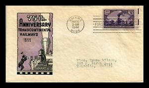 DR JIM STAMPS US TRANSCONTINENTAL RAILROAD FIRST DAY CACHET COVER SCOTT 922