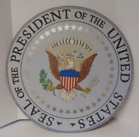 Vintage Seal of the President of the United States Folk Art Political Sign Prop