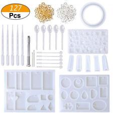 127pcs bricolage résine kit kit de moulage en silicone faisant bijoux pendPS