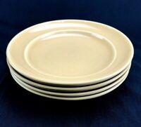 "Set of 4 Pottery Barn Stoneware SOPHIA YELLOW 11-1/4"" Dinner Plates Nice!!"