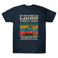 Thanksgiving Day First Annual WKRP Turkey Drop Vintage Retro Men's T-Shirt Tee