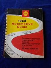 SHELL OIL GAS CANADA 1968 AUTOMOTIVE GUIDE SERVICE MANUAL CAR REPAIR WARRANTY