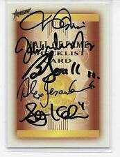 HALL OF FAME/ CARLTON'S 5 GREATEST ICONS EVER SIGNED CARD