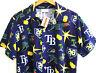 Tampa Bay Devil Rays MLB 20th Anniversary All Over SGA Hawaiian Shirt Medium NWT