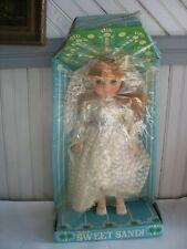 17� Vintage Eegee Goldberger Sweet Sandi Doll Bride in original pkg