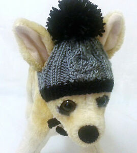 Pet Clothes Apparel Outfit Crochet Handmade Knit Hat for Small Dog XXS XS S