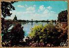 Cpsm / Cpm Toulouse - pont suspendu sur la Garonne dôme de la Grave wn0325