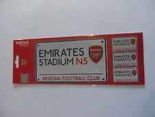 Arsenal Street Sign Football Sticker Sheet (AFC-03)