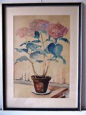 Aquarell Stillleben Blumen, Leo Grim Saarlouis, Künstlervereinigung Untere Saar