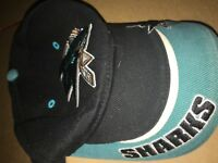 San Jose Sharks NHL VINTAGE Ice Hockey Hat cap T.E.I One Size Fits Adjustable