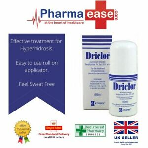 Driclor Antiperspirant 60ml Roll On |STOPS SWEATING  ARMPIT HANDS & FEET