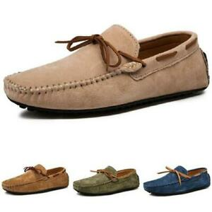 Fall Winter Mens Faux Leather Loafers Shoes Slip on Driving Moccasins Flats 48 L