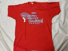vintage 80s Philadelphia Distance Run 1983 Ymca Liberty Bell shirt large nike