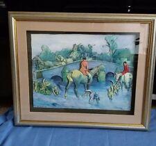 Hunting Scene, Coach & Horses Decoupage 3D Picture Signed B Bush 2001