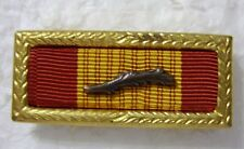 VIETNAM CROSS OF GALLANTRY WITH PALM RIBBON BAR WITH GOLD SMALL FRAME
