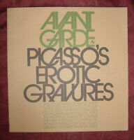 RARE AVANT GARDE September 1969 PABLO PICASSO Erotic Gravures Drawings
