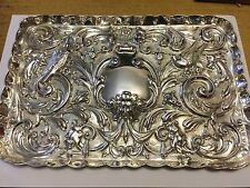 Silver Dressing Table Vanity Tray - W J Myatt & Co - Birmingham - 1918