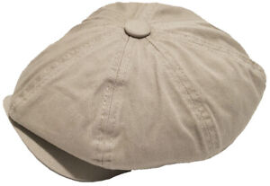 Broner 100% Cotton 8 Panel Apple Jack Gatsby Newsboy Cap 8/4 Hat Cabbie Driver