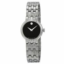 Movado 0606338 Women's Stainless Steel Black Quartz Watch