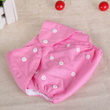 Reusable Baby Infant Adjustable Cloth Nappy Soft Cotton Diaper Cover Washable us