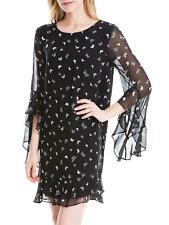 MAX STUDIO Butterfly Print Dress Black Size M Uk 12 BNWT RRP £70