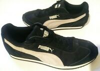 PUMA Rio Speed NL Black/ Marshmallow Womens Fashion Sneaker Size 10 Suede LaceUp