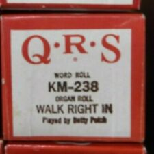 Qrs Kimball Electramatic Player Organ Roll Walk Right In Nos Rare Km -238