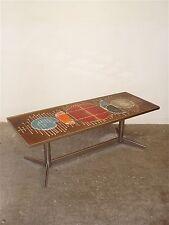 Table basse vintage en céramique VALLAURIS des années 70