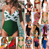 Womens One-Piece Bandage Bikini Push Up Monokini Swimsuit Bathing Suit Swimwears