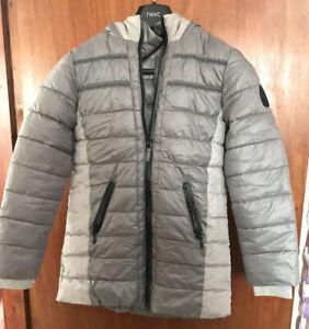 Next Girls  Silver Grey Winter Jacket Coat 11 Year Old