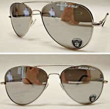 Read Listing! Oakland Raiders XLGE 3D logo on mirrored Aviator Sunglasses.