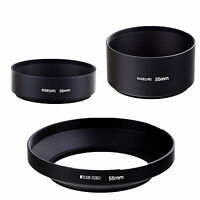 55mm standard telephoto wide angle metal lens hood kit set 3pcs for DSLR CAMERA