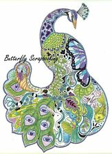 PEACOCK BIRD Animal Spirit Cling Unmounted Rubber Stamp EARTH ART Sue Coccia New