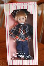 "Vogue Ginny 8"" Doll 1978 Poseable With Moving Eyes - Plaid Poncho & Hat"