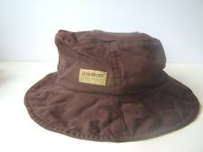 Bamboo Bucket Hat Brown One Size Unstructured Cap