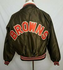 VTG 60s/70s Cleveland Browns BUTWIN Mens Medium Satin Jacket Snap Button NFL
