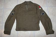 Vintage US Army WWII Wool Waist Coat Ike Jacket Size 36R Eisenhower