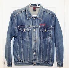 Pure Playaz  Mens Denim Blue Jean Jacket Sz L Urban Hip Hop Prison Trucker Coat