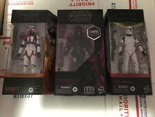 Star Wars Black Series LOT Incinerator, Phase 1 Clone Electrostaff Purge Trooper
