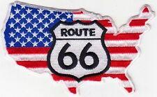 PATCH THERMOCOLLANT CARTE USA ROUTE 66 - 11.5 X 7 CM- NEUF-DECORATION USA /BIKER
