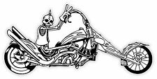 Cranio biker skull schädel crâne череп etichetta sticker 13cm x 6cm