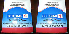 4 LBS RED STAR ACTIVE DRY YEAST VACUUM PACKED BREAD MACHINE BAKERS 64 oz