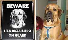 Custom engraved BEWARE OF DOG / CAT Sign personalized with your pet's photo!!