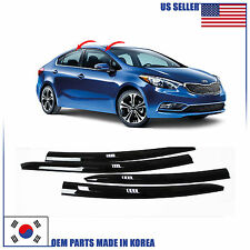 SMOKED DOOR WINDOW VENT VISOR DEFLECTOR (A147) KIA FORTE SEDAN 2014-2017